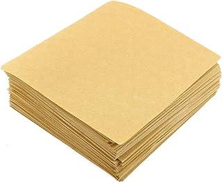200 قطعة 10 × 10 سم أوراق خبز البسكويت غير المبيضة أوراق الخبز الورقية غير المبيضة أدوات وملحقات الخبز