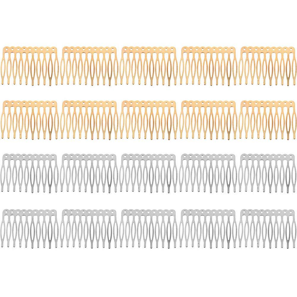 20 Pcs 10 Teeth Hair Combs Soldering Clips Blank Side DIY Metal Max 59% OFF