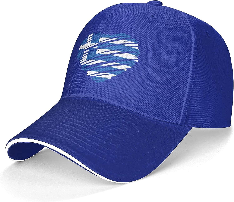 Kritin Greek Flag Baseball Caps Adjustable Trucker Hat Mens Womens Dad Hats