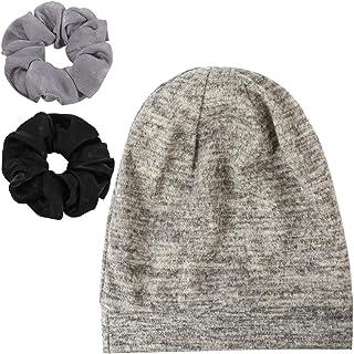 Enjoy Holiday 1981 Satin Silk Lined Sleep Cap Beanie and Scrunchies - Slap Cap Amazing Soft Chome Hat
