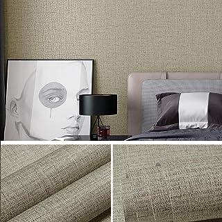 "Gray Grasscloth Wallpaper Peel and Stick 15.7""x118"" Waterproof Wallpaper Linen Removable Wallpaper Self Adhesive Wallpaper for Home Decor Wallpaper Decorative Wallpaper for Wall Vinyl Roll"
