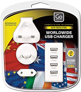 Go-Travel World Wide USB Charger, White, 575