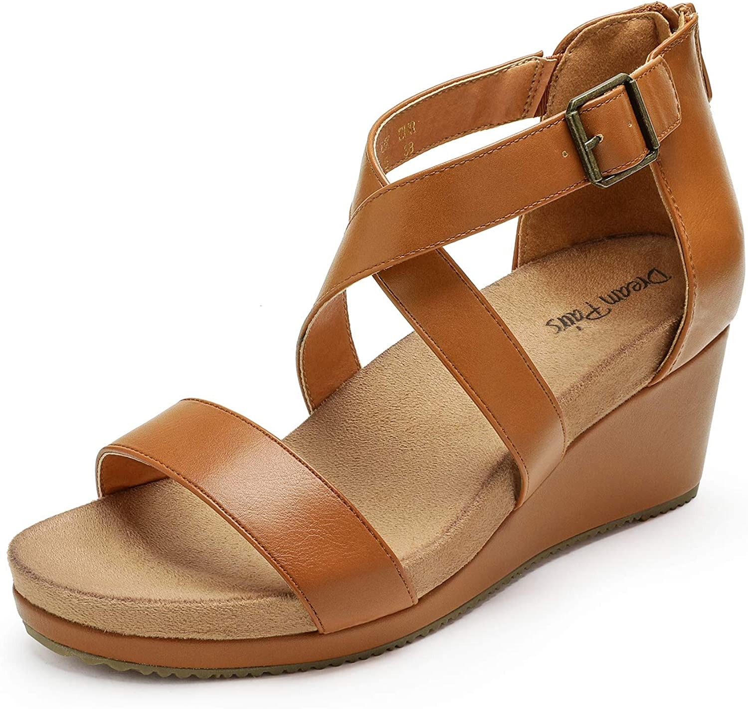 DREAM PAIRS Women's Open Toe Buckle Summer Super OFFer sale period limited Platform Strap Ankle