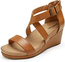 DREAM PAIRS Women's Open Toe Buckle Ankle Strap Summer Platform Wedge Sandals