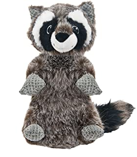 Best Pet Supplies PT512 Raccoon Plush Squeaky Woodland Critters Stuffed Dog Toy