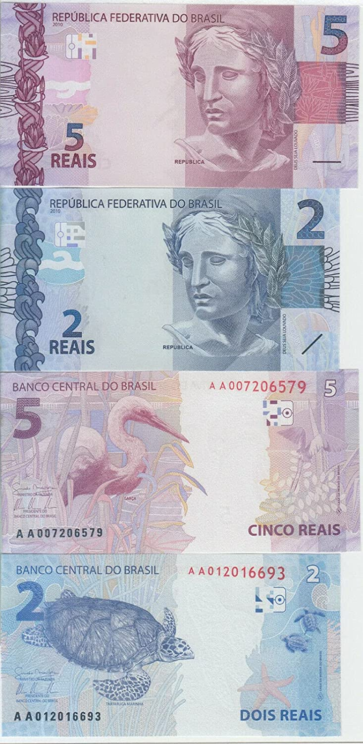 Aveshop Hobbies and Games Brazil banknote Reai 252a-253a P. 5 Choice 2 Very popular