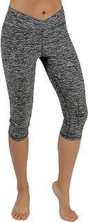 ODODOS Women's Tummy Control Yoga Capris Non See-Through Workout Leggings with Pocket