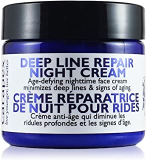 Carapex Natural Anti Wrinkle Night Cream   Deep Line Repair for Sensitive, Dry, Oily and Combination Skin   Fragrance Free 2 oz