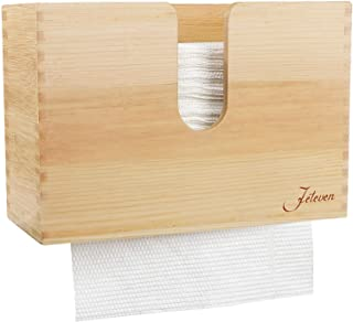 Jeteven Paper Towel Dispenser Kitchen Napkin Dispenser Wooden Bamboo Napkin Holders Wall Mount & Countertop Decor for Kitc...