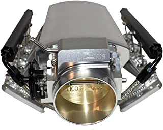 A-Team Performance Intake Manifold 102mm Throttle Body Fabricated Metal Sheet Compatible with Chevrolet GMC Pontiac LS LS1 LS2 LS6 Silver
