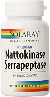 Solaray Nattokinase and Serrapeptase Supplement | 30 Count