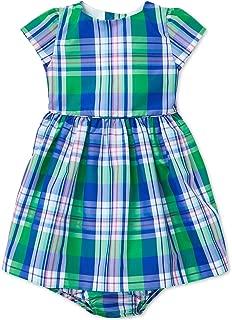 Ralph Lauren Baby Girls Plaid Taffeta Dress & Bloomer Set (9 Months)