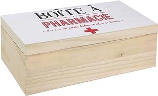 scatola in legno con chiusura porta farmaci medicinali