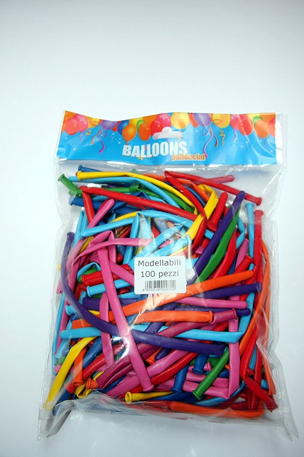 Balloons modelling multicolor, 10 in a Box (Pack of 100) 1000 Balloons Total