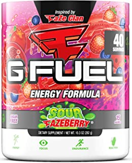 G Fuel Sour FaZeberry (40 Servings) Elite Energy and Endurance Formula 10.3 oz.