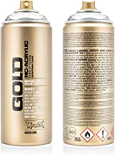 Montana Cans Montana spray blik goud 400ml, Gld400-m1000-zilverchroom, 400