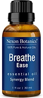 Breathe Essential Oil Blend 30 ml - Pure, Natural Breathe Easy from Eucalyptus, Peppermint, Rosemary and Niaouli - Helps R...