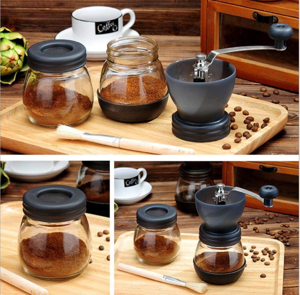 Coffee Bean Grinder Hand Grinder Hand Grinder Glass Coffee Machine Manueel Grinder Grinder Small Grinder Send afgesloten pot Koffiemolen Manual, Black ggsm (Color : Black) Black