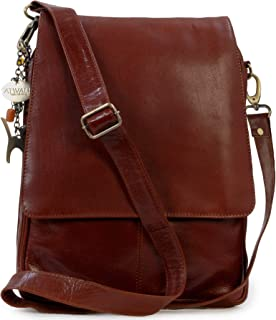 Catwalk Collection Handbags - Women's Leather Cross Body Messenger Bag - A4 size Business Office Work Bag - CITY