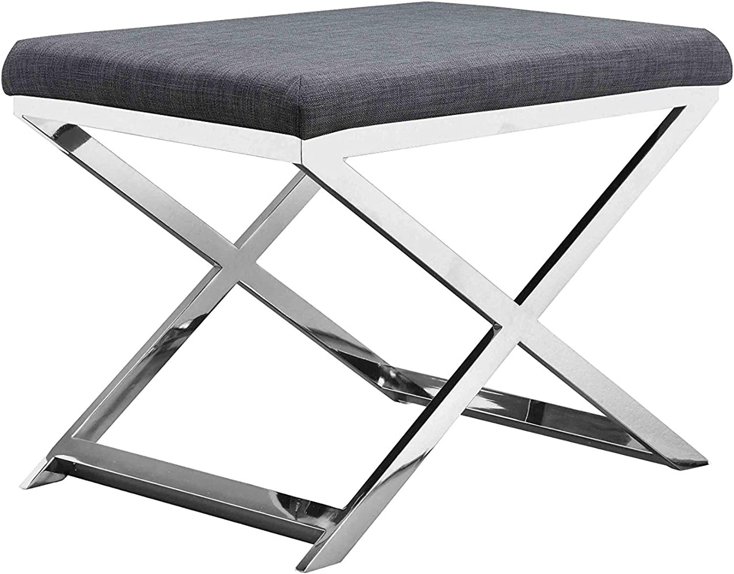 Pangea Home CHRC Lexi Stool, Charcoal