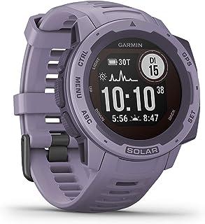 Garmin Instinct Solar   wasserdichte GPS Smartwatch mit Solar Ladefunktion für bis zu 54 Tage Akku. Mit Sport /Fitnessfunktionen, Herzfrequenzmessung am Handgelenk und Smartphone Benachrichtigungen