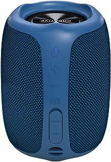 مكبر صوت بلوتوث 5.0 المحمول من كريتيف موفو، مقاوم للماء بدرجة IPX7 للاستخدام في الخارج مع مساعد جوجل - ازرق