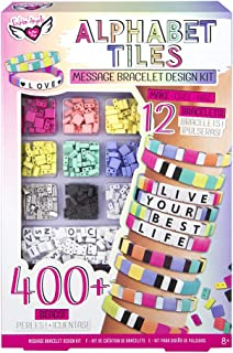 Fashion Angels Alphabet Tiles Message Bracelet Kit - Alphabet Beads Bracelet Making Kit for Kids Ages 8 and Up, 400+ Beads...