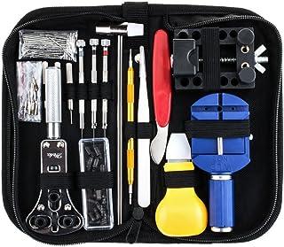 SODIAL 147 PCS Kit de reparation de montres Ensemble professionnel d'outils de barre de ressort, ensemble d'outils de broc...