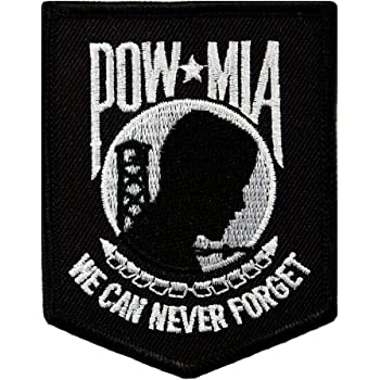 """POW MIA YOU ARE NOT FORGOTTEN BIKER Iron-On//Saw-On PATCH 3/"""" x 4/"""""""