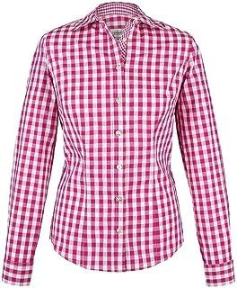 """Almsach Damen Trachten-Bluse pink-weiß kariert """"Maria"""", pink,"""