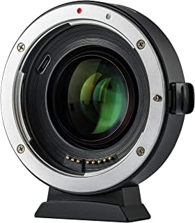 VILTROX Electronic Auto Focus Focal Reducer Booster Lens Mount Adapter for Canon EF Series Lenses to Canon EOS-M (EF-M Mount) Mirrorless Cameras M M2 M3 M5 M6 M10 M50 M100