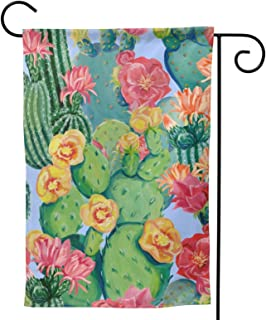 Cacti Garden Flag Colorful Flowers House Flag Vertical Double Sided Yard Outdoor Decor Party 12.5 X 18 Inch