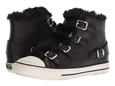 ASH Valko (Nappa Wax Black/Eco Fur Black) Women