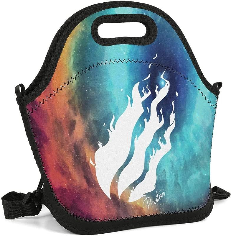 Uter Ewjrt Durable Polyester Preston Logo Unisex Lunch Box Toto Mom Bag For School Work Outside Picnic