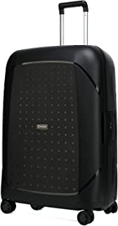 """Kroeus Ultralight PP Luggage Scratch-Resistant Suitcase Dual Spinner Wheels 24"""" 68CM Black"""