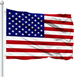 Lapogy Outdootrs Flag American Flag 3 x 5 ft US Flag,Polyester Vivid Color and UV Fade Resistant Garden Indoors Flags with Brass Grommets(A) 3x5 Foot