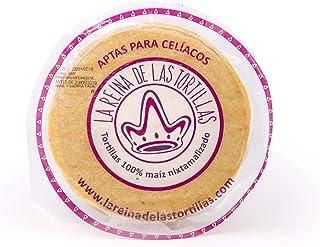 Líder europeo en gastronomía artesanal mexicana - Tortillas de maíz amarillo 100% nixtamalizado. Aptas para veganos y celíacos. Envasadas al vacío. 250 g. 12 cm. 4 meses de caducidad