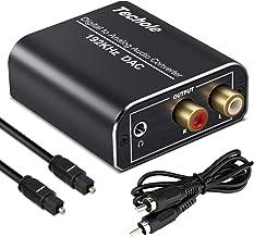 Digital to Analog Audio Converter-192kHz Techole Aluminum Optical to RCA with Optical..