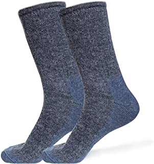 Alpaca Wool Socks 2Pairs for Men & Women - Warm & Thick Outdoors Hiking Boot Casual BD94