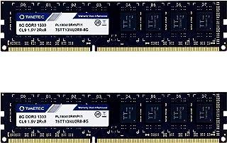 Timetec Hynix IC 16GB Kit (2x8GB) DDR3 1333MHz PC3-10600 Unbuffered Non-ECC 1.5V CL9 2Rx8 Dual Rank 240 Pin UDIMM Desktop ...