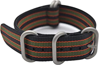 ArtStyle Watch Band with Colorful Nylon Material Strap and Heavy Duty Brushed Buckle