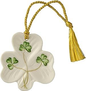 Belleek Shamrock Shaped Ornament