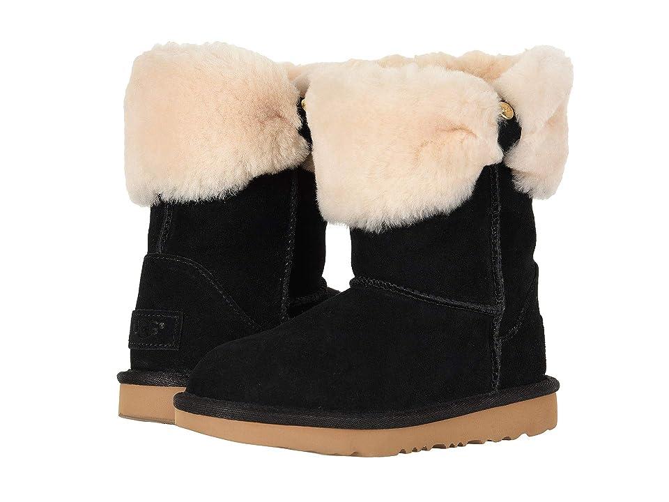 UGG Kids Ramona Classic Short II (Little Kid/Big Kid) (Black) Girls Shoes