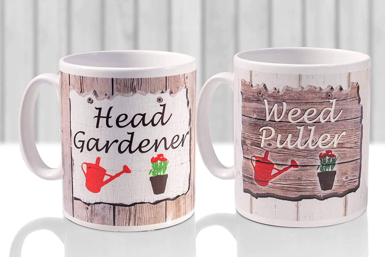 DKISEE Novelty Gift 11oz Topics on TV White Mug Set Easy-to-use Coffee Gardener Head