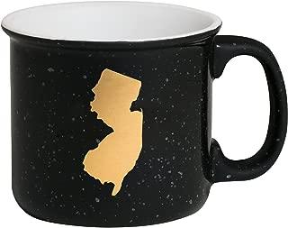 New Jersey Silhouette In Goldtone 13.5 oz Ceramic Mug