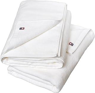 ブルーム 今治タオル ベビーカラー バスタオル 2枚セット (ホワイト×ホワイト)