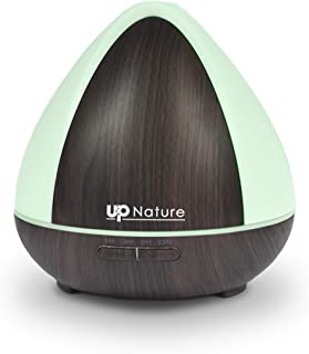 Cool Mist Humidifier Essential Oil Diffuser - Vaporizer for Essential Oils - 300ml Wood Grain Diffuser - Sparoom Essential Oil Diffuser - Fills a Large Room - Six Colors & Timer Shut-Off