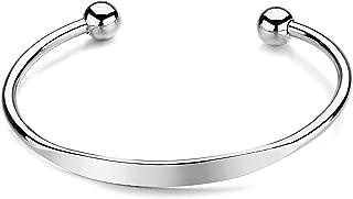 Best silver ball cuff bracelet Reviews