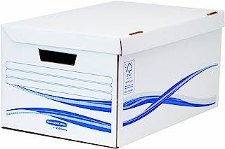 Fellowes Basic Bankers Box Lot de 5 Conteneurs maxi Blanc/Bleu
