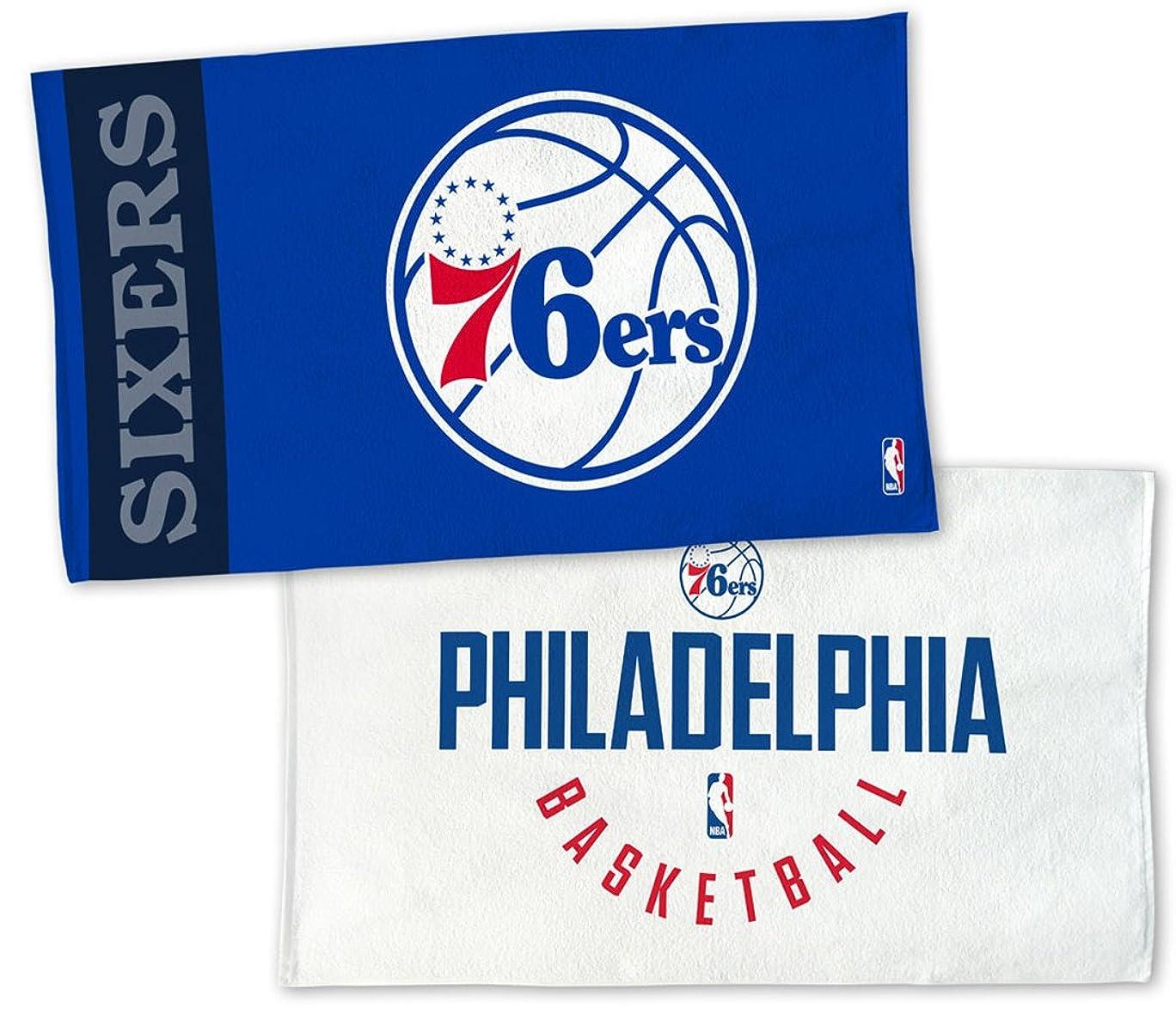 迫害群衆無駄WinCraft NBA Philadelphia 76ers on Courtタオル、NBAロッカールームAuthentic Edition 22?x 42インチ